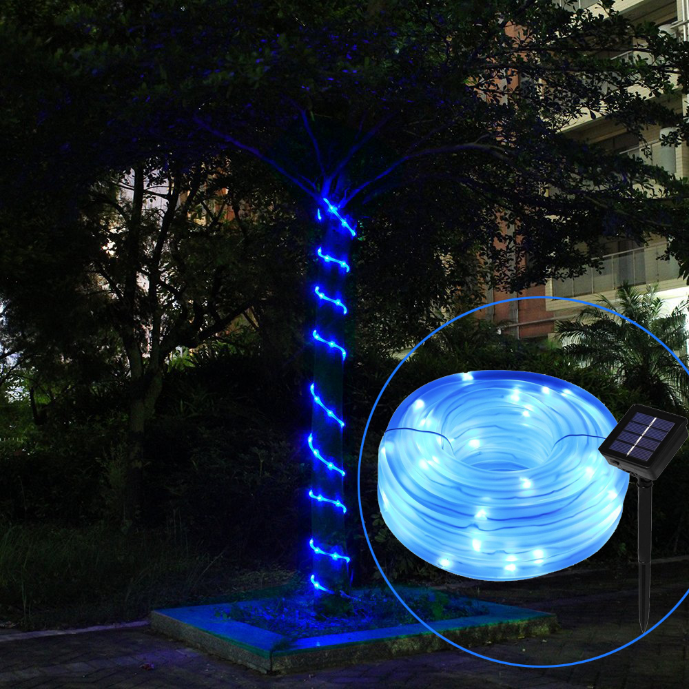 Ktaxon 32.8ft 100 LED Solar Rope String Garden Light Waterproof