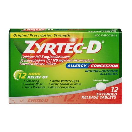 Zyrtec D For Sinus Congestion