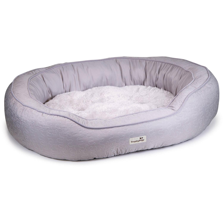 trustypup lazyloveseat dog bed, quilt gray - walmart