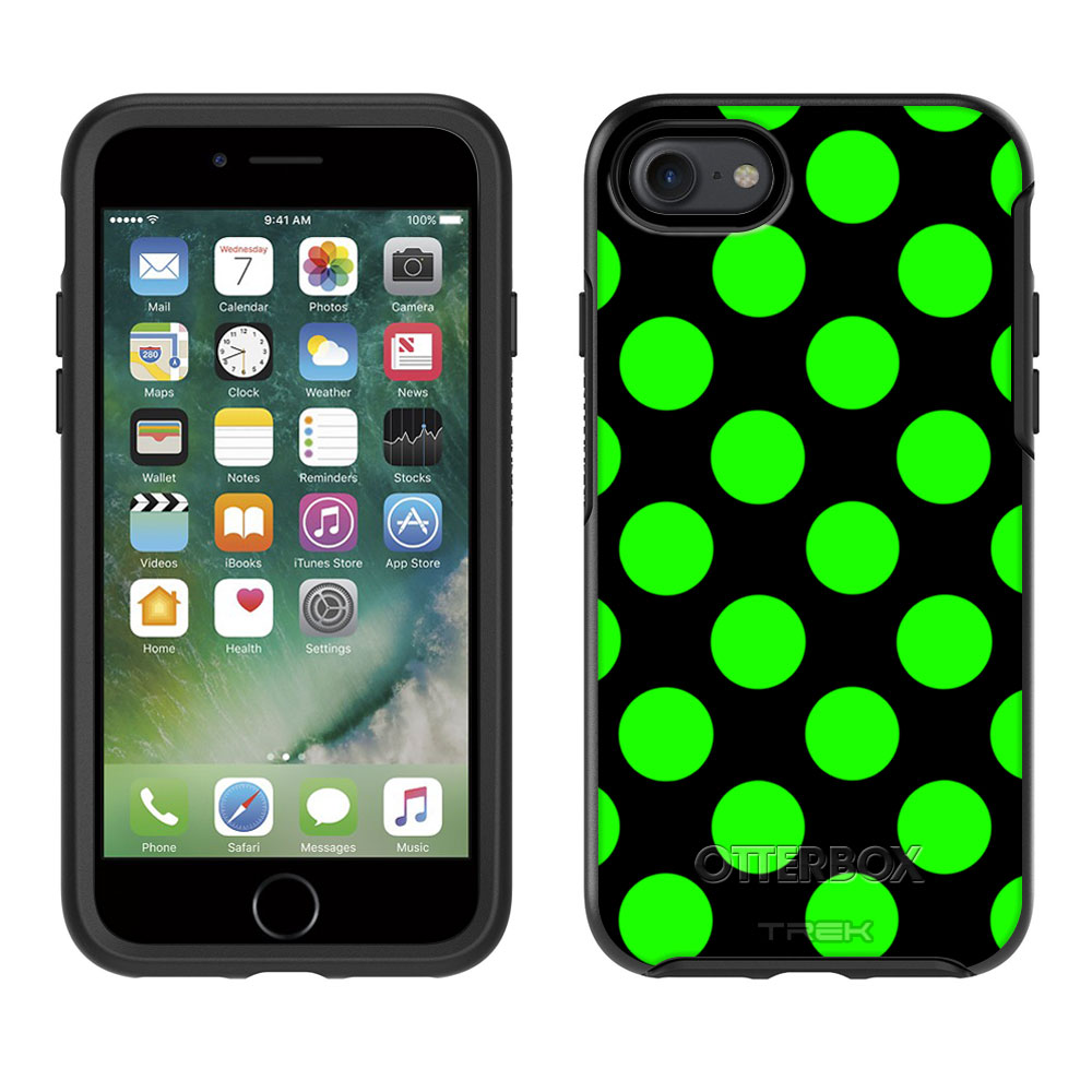 OtterBox Symmetry Apple iPhone 7 Case - Green Polka Dots Apple iPhone 7 OtterBox Case