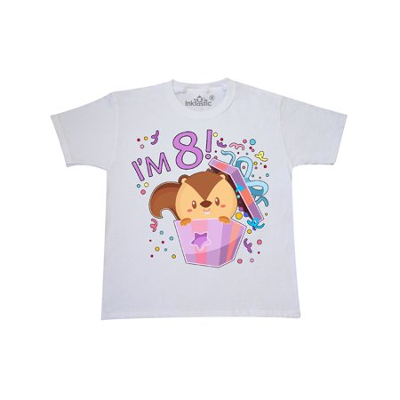 Im Eight Cute Squirrel 8th Birthday Party Youth T Shirt