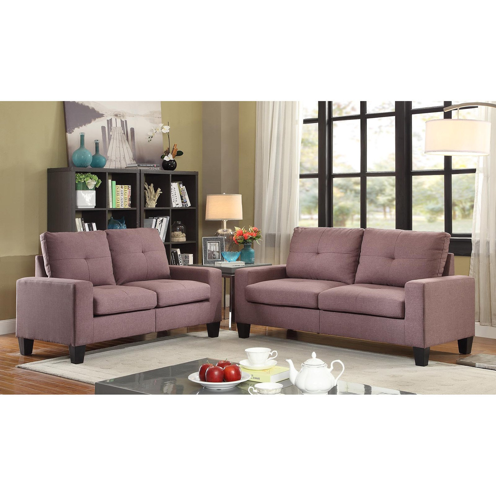 Acme Furniture Platinum II Linen Sofa
