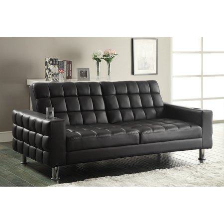 Terrific Simple Relax Dark Brown Futon Sofa Bed Creativecarmelina Interior Chair Design Creativecarmelinacom