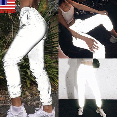 The Noble Collection Women Sports Workout Fitness Glow in Dark Leggings Pants Hip Hop