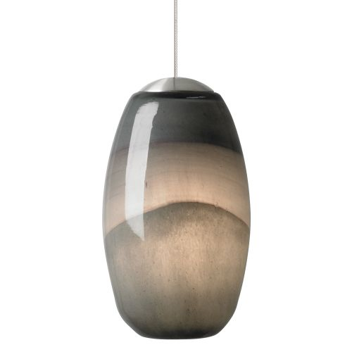Lbl lighting emi gray dark purple 50w monopoint 1 light mini pendant