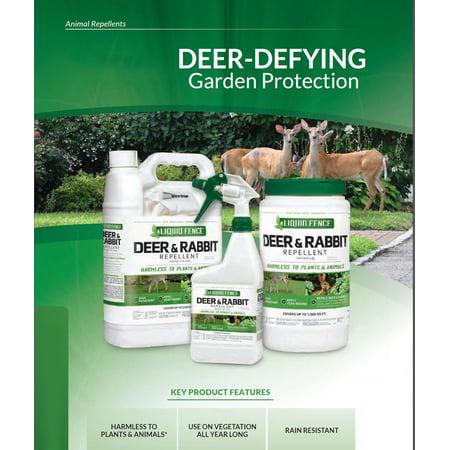 Liquid Fence Deer And Rabbit Repellant Concentrate 32 Oz