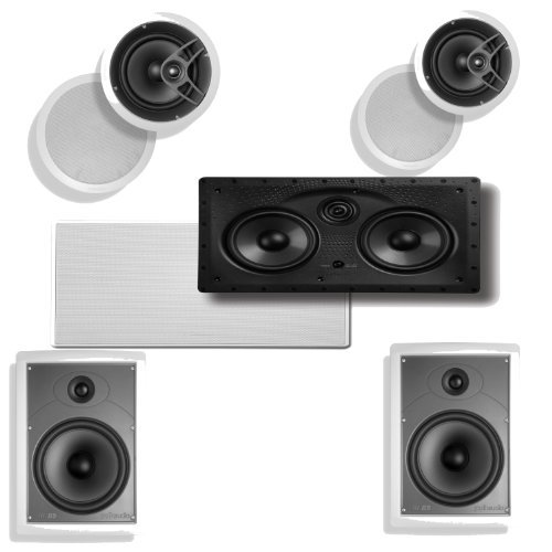 Polk Audio 255C-LS In-Wall Center Speaker Plus A Pair of Polk Audio MC80 In-Ceiling & Polk Audio MC85 In-Wall Speakers by Polk Audio