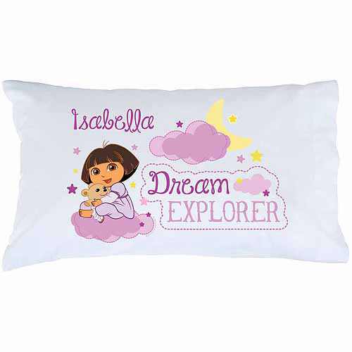 Personalized Dora the Explorer Dream Explorer Pillowcase