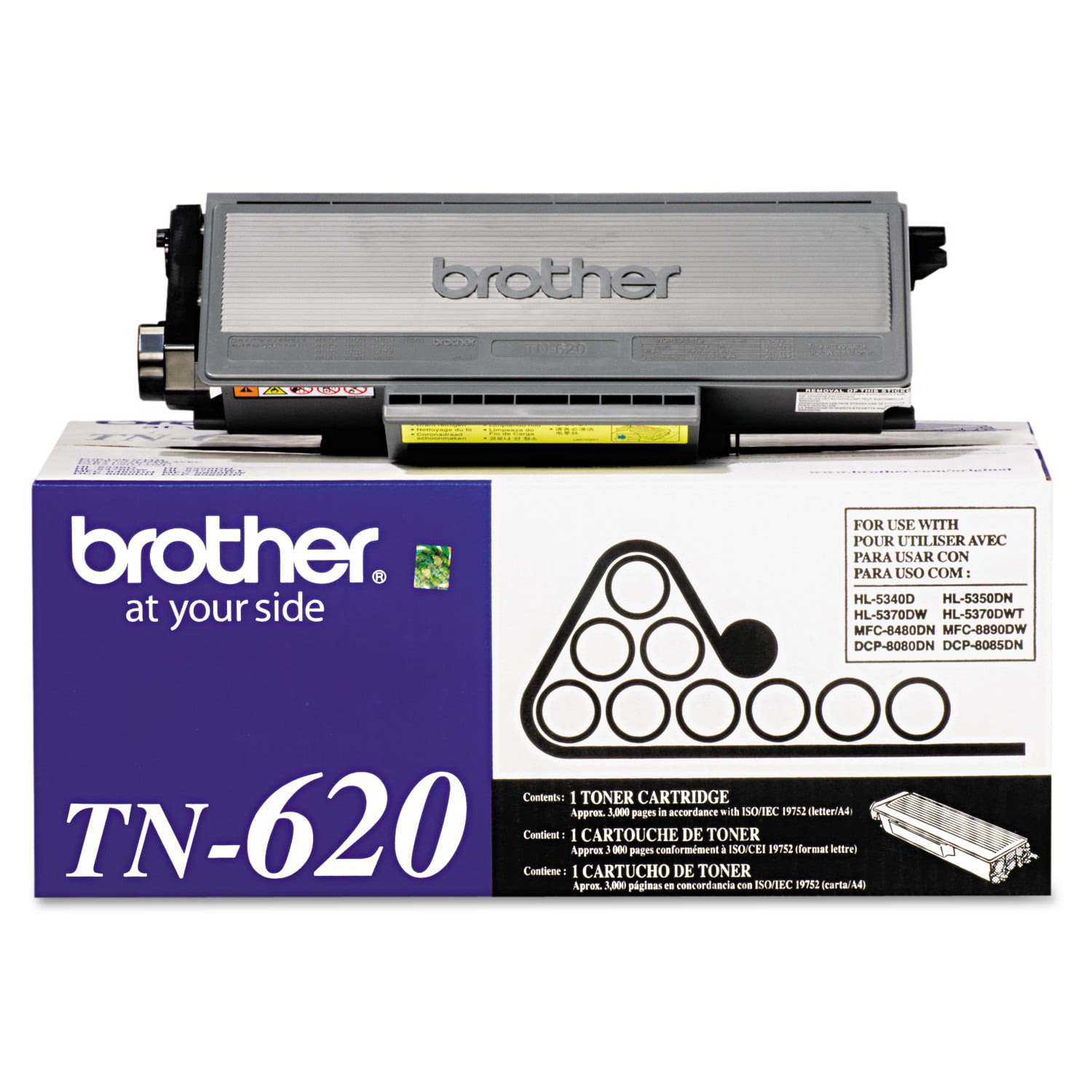 TN650 Set of 6 High Yield Black Toner Cartridges LD Compatible Brother TN620