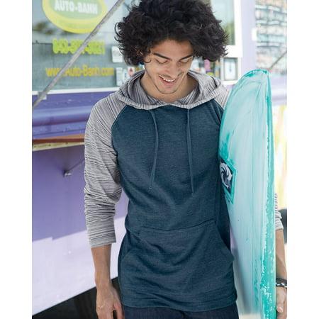 Burnside Yarn-Dyed Raglan Hooded Pullover