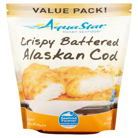 Aqua star smart seafood crispy battered alaskan cod value for Cod fish walmart