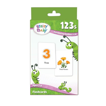 Brainy Baby 123S  Introducing Numbers 1 20 Flash Card Set