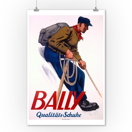 Bally - Qualitats - Schuhe Vintage Poster (artist: Cardinaux, Emil) Switzerland c. 1935 (9x12 Art Print, Wall Decor Travel Poster) (Wayfair Qualität)