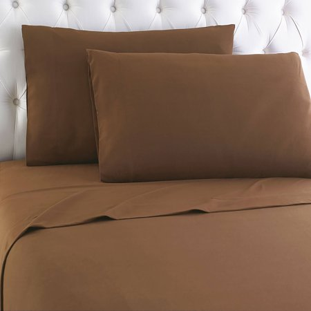 - Micro Flannel® Solid Color Sheet Set, Queen, Chestnut