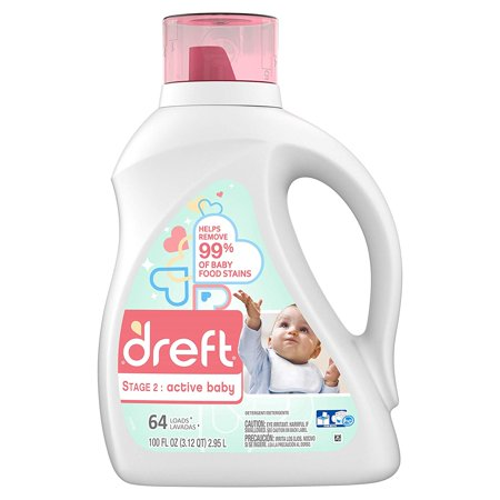 Stage 2: Active Hypoallergenic Liquid Baby Laundry Detergent for Baby, Newborn, or Infant, 100 Ounces (Packaging May