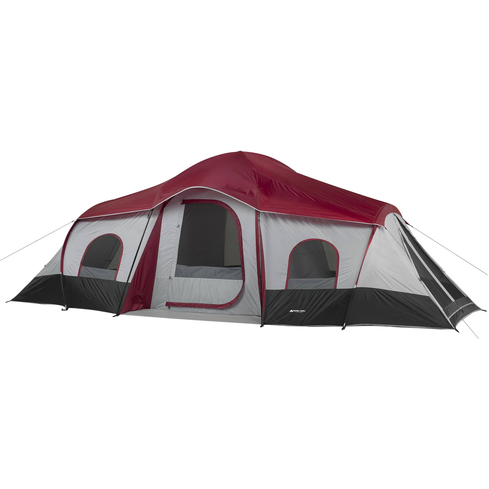 Ozark Trail 10-Person 3-Room Cabin Tent  sc 1 st  Walmart : ozark tent parts - memphite.com