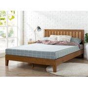 "Zinus Alexis 37"" Deluxe Solid Wood Platform Bed with Headboard, Rustic Pine, King"