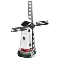 HERCHR Solar Powered Windmill LED Light Wall Lamp Home Garden Patio Decor Ornament USA