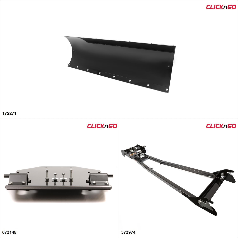 ClickNGo GEN 1 ATV Plow kit 60'', Can-Am Outlander Max 650 2007-12 Black #KK00000168_14 by ATV Snowplows