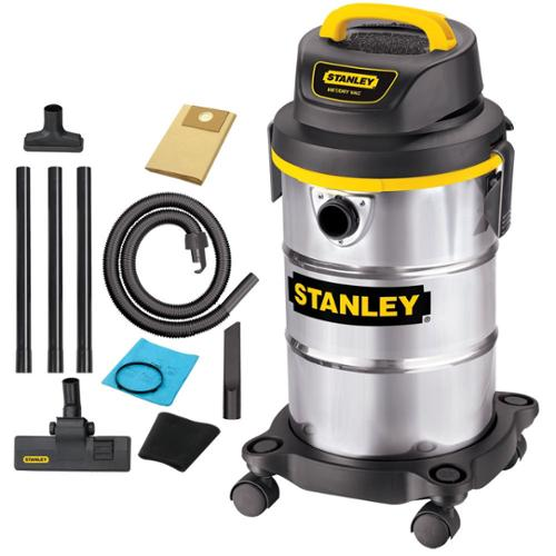 Stanley Sl18130 Canister Vacuum Cleaner - 3.36 Kw Motor - 5 A - 5 Gal - Silver (sl18130)
