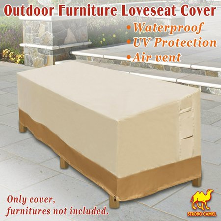 Strong Camel Large Patio Sofa Loveseat & Bench Cover Furniture Protector Weather Protection Waterproof