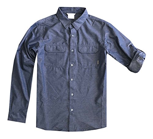 Columbia Mens Omni-Wick Omni-Shade UPF 50 Westerly Winds Convertible Sleeve Shirt