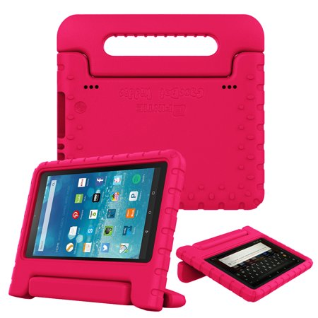 good 7e89f ee636 Fintie Case for Amazon Fire HD 8 Tablet - Kids Friendly Shock Proof Light  Weight Convertible Handle Stand Cover, Magenta