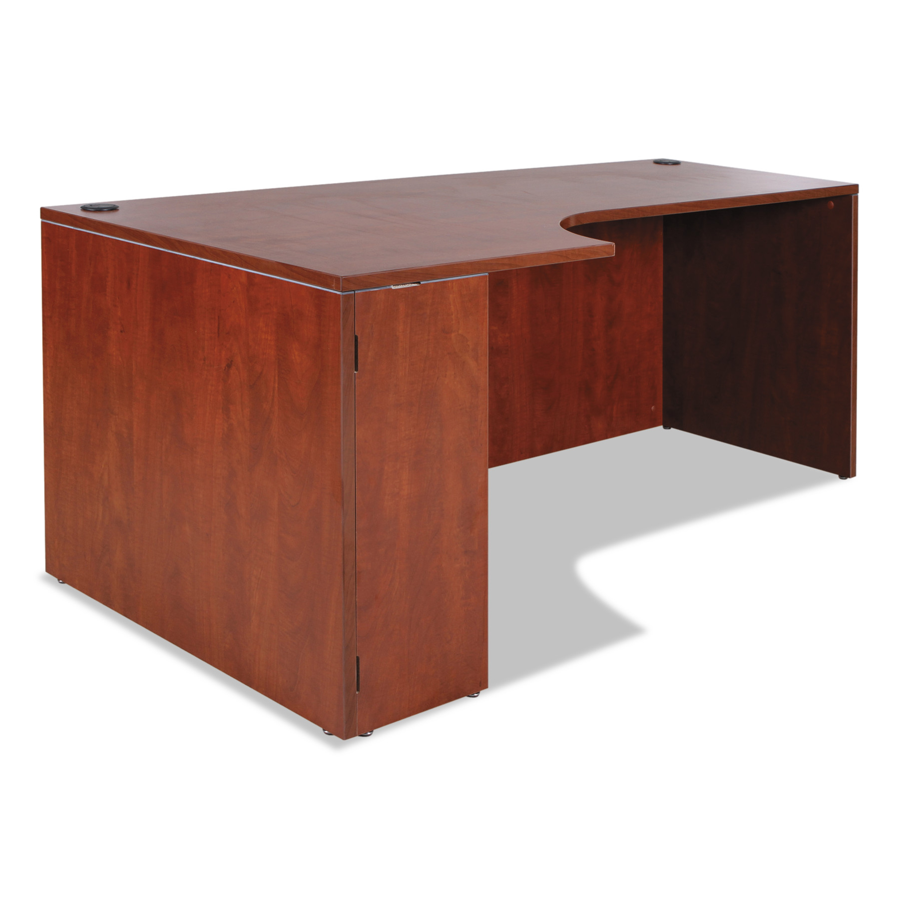 Alera Alera Valencia Left Corner Credenza Shell, 72w x 36d x 29 1 2h, Medium Cherry by ALERA