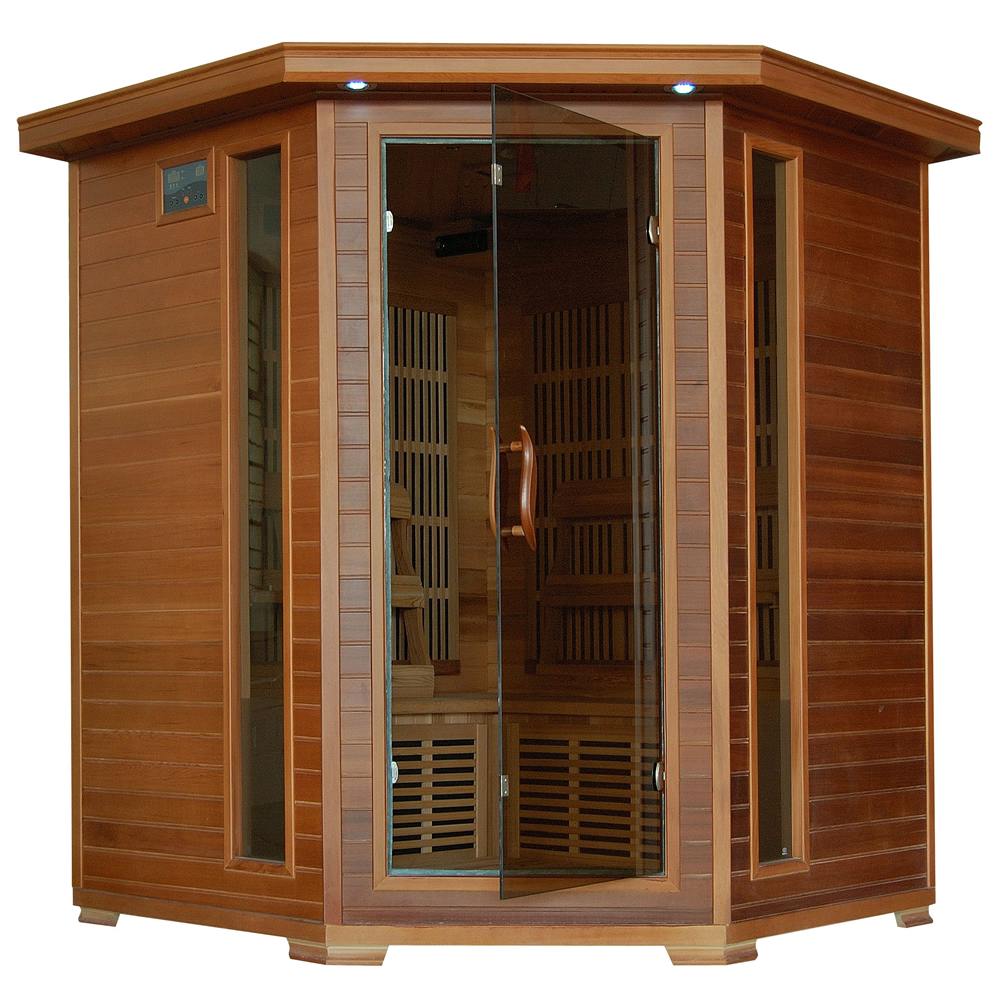 Whistler 4 Person Corner Cedar Heatwave Sauna Free Shipping! by