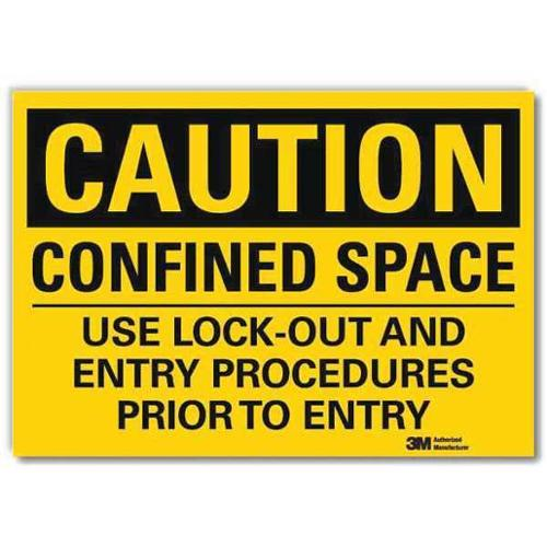 LYLE U4-1145-RD_7X5 Safety Sign,Entry Procedures,5in.H G2279046