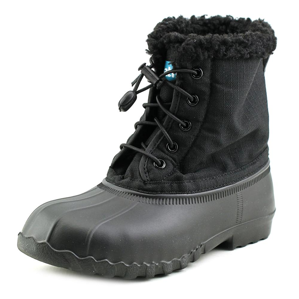 Native Jimmy Winter Youth  Round Toe Canvas Black Winter Boot