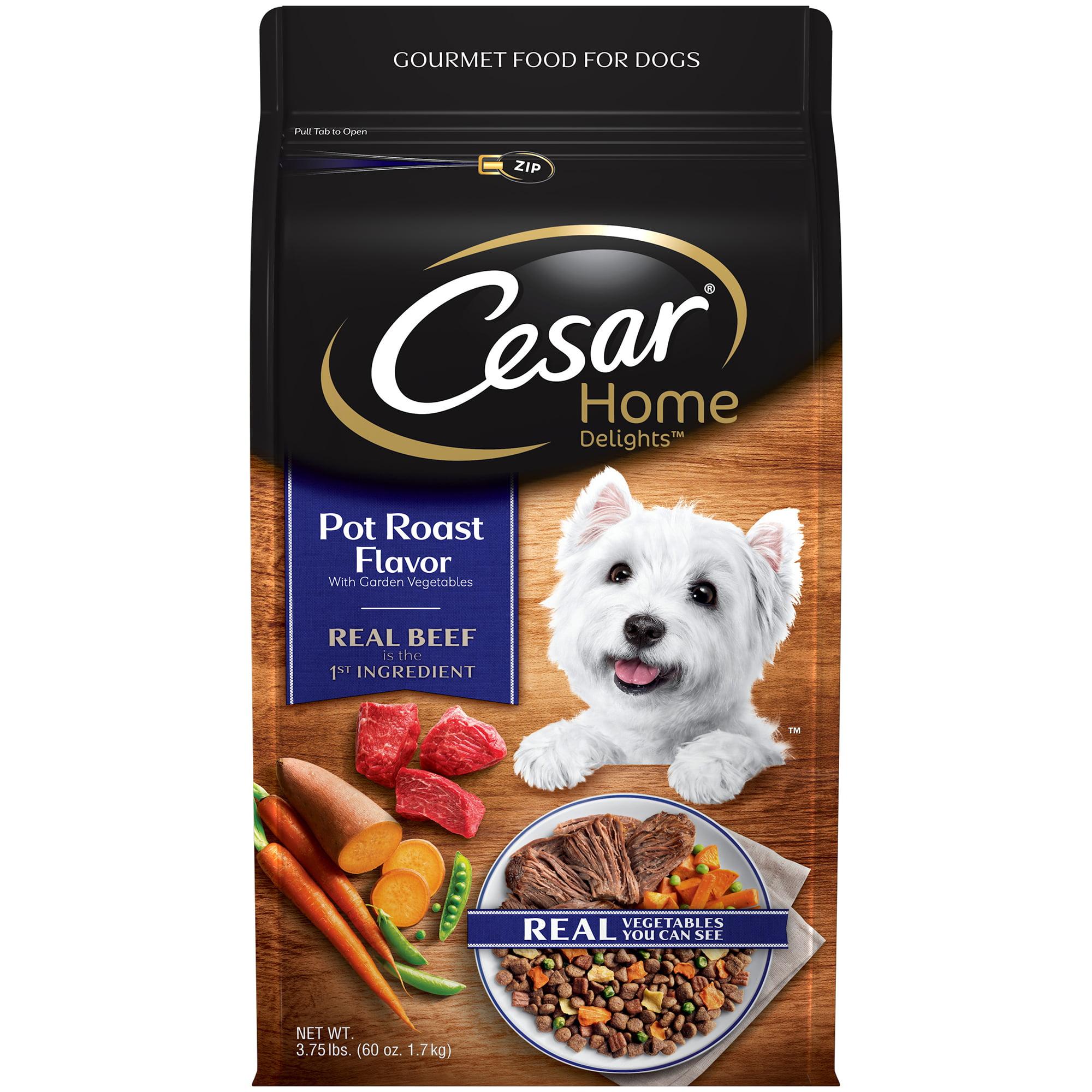 Cesar Home Delights Dry Dog Food Pot Roast Flavor with Garden Vegetables, 3.75 lb. Bag