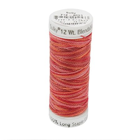 Poppies Thread - 12wt Blendables Cotton Petites Thread, 50 yd, Poppy, Sulky Petites Blendables cotton thread is easier, faster and more fun than floss! ONE strand of our.., By Sulky Of America