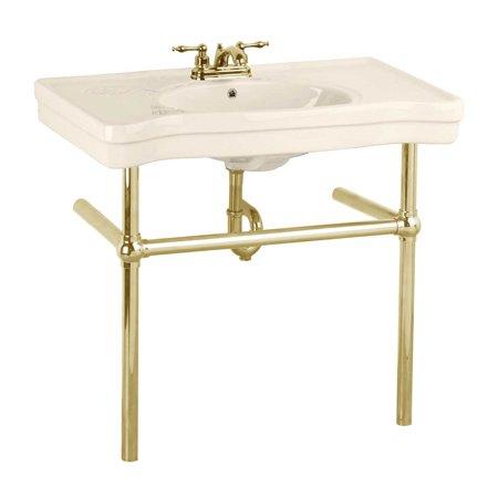 Bone Console Sink China Belle Epoque with Brass Bistro Legs Brass Console Sink Stand