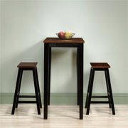 Pemberly Row 3 Piece Counter Height Pub Set in Cherry by Pemberly Row