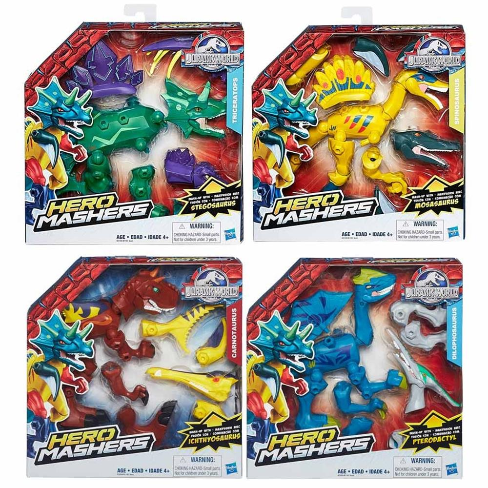 Jurassic World Hero Mashers Dinos 8pc Assortment Action Figures Hybrid Reveal Wave 1R1 Hasbro HSBB1197