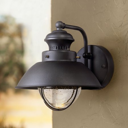 John Timberland Rustic Outdoor Wall Light Fixture Led Black 8 Seedy Gl Sconce For Exterior Deck Porch Patio