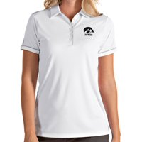 Antigua Women's Iowa Hawkeyes Salute Performance White Polo