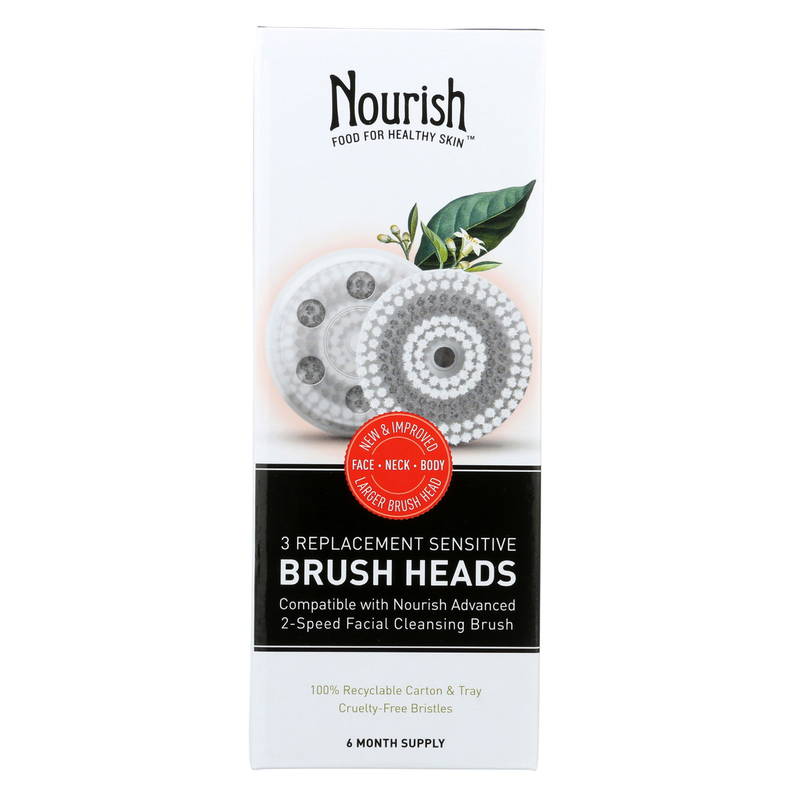 Nourish Replacement Brush Heads - 3 count