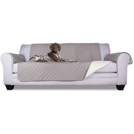 ALEKO PSC03G 110 x 71 Inches Pet Sofa Slipcover Spill Scratch Pet Fur Protection Cover for Furniture, Gray ()