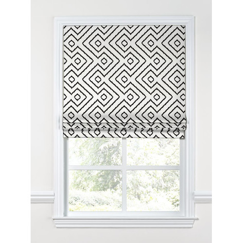 Loom Decor Maze Diamond Flat Roman Shade