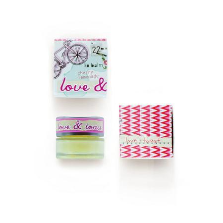 Love & Toast Lip Balm, Cherry Lemonade, 0.22 Oz