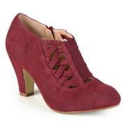 Brinley Co. Women's High Heel Round Toe Bootie