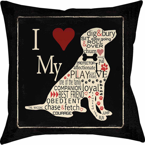 IDG Love My Dog Pillow