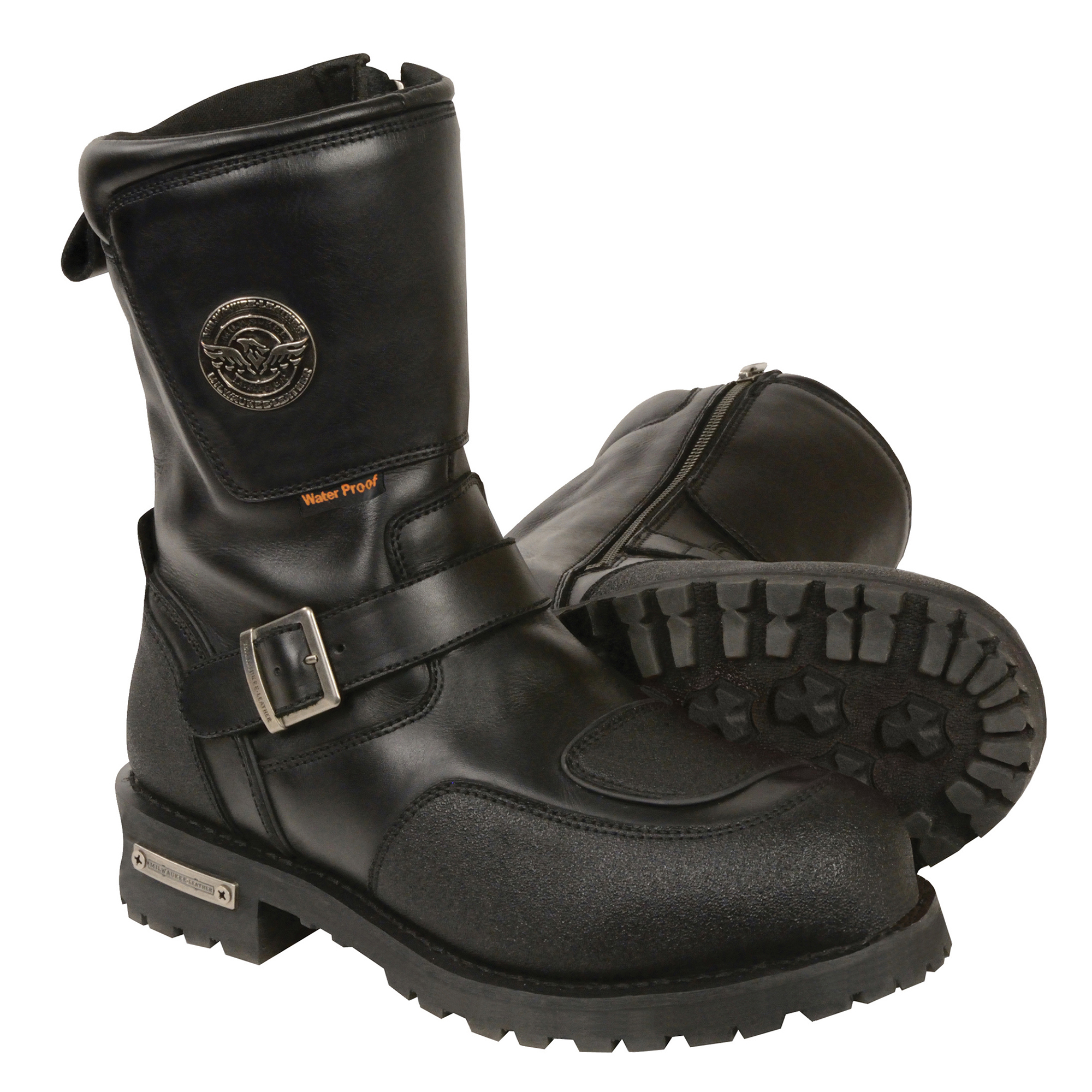 "Men's 9"" Waterproof Boot w/ Reflective Piping & Gear Shift Protection"