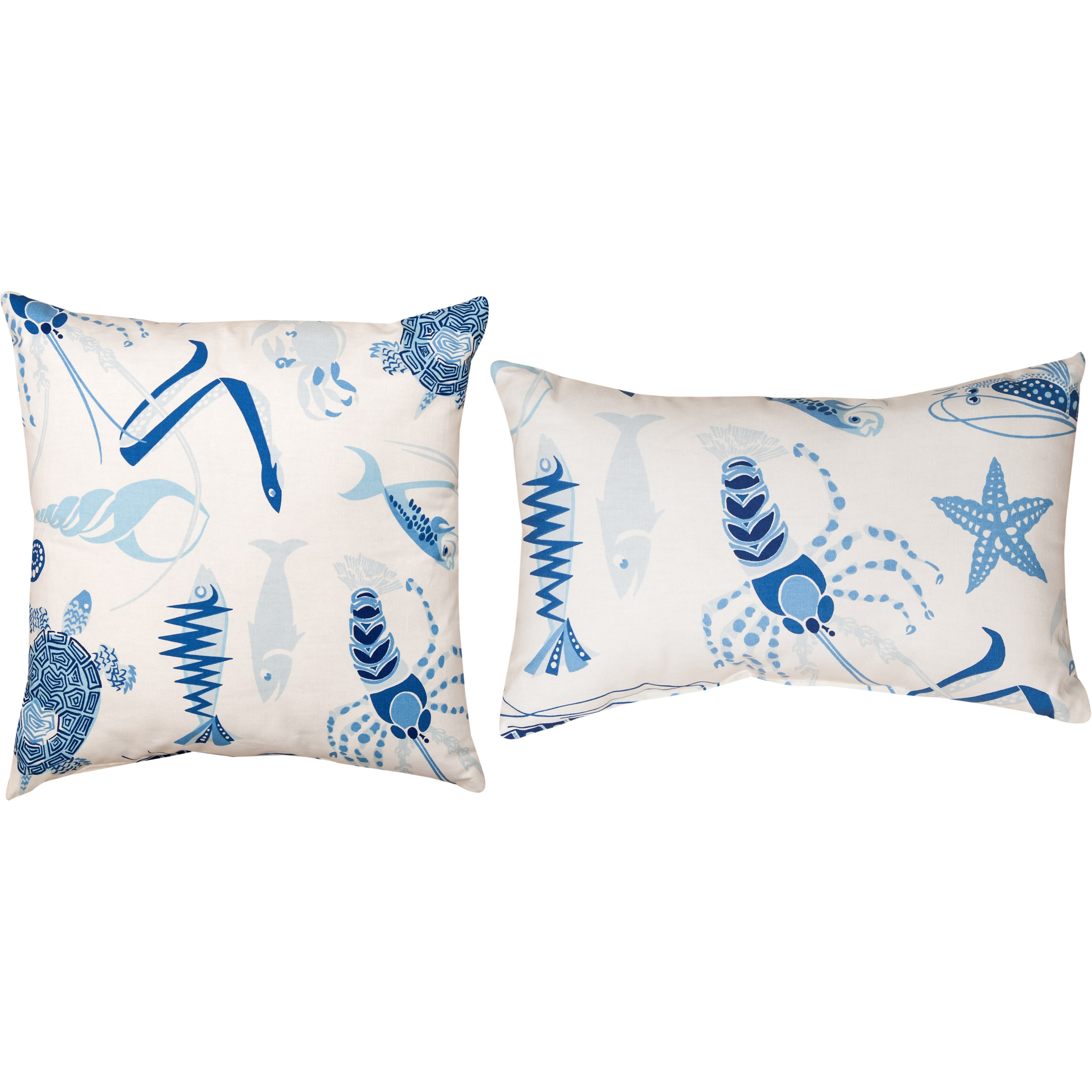 MANUAL WOODWORKERS AND WEAVERS, INC. Nautical Fish Tale Harbor Decorative Pillows (Set of 2)
