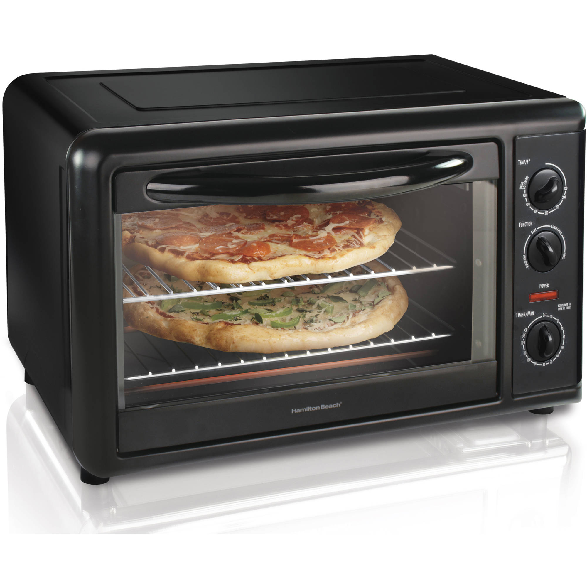Refurbished Hamilton Beach Countertop Oven with Convection and Rotisserie | Model# R1304