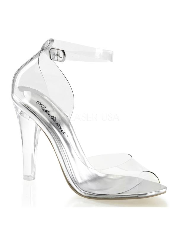"""Clr Fabulicious Shoes 4 1/2"""" Clearly Size: 5"""