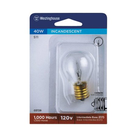 Westinghouse Lighting 40W E17 Dimmable Incandescent Edison Globe Light Bulb ()