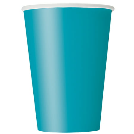 Paper Cups, 9 oz, Teal, 14ct